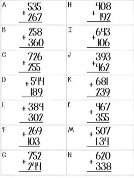 Add 3 Digits & Estimate to Check