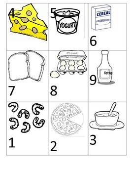 Add 3 Numbers--Grocery Theme