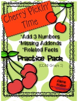 Add 3 Numbers, Missing Addend, & Related Facts Practice Pack