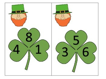 Add 3 One Digit Addends with a St. Patrick's Day Mouse