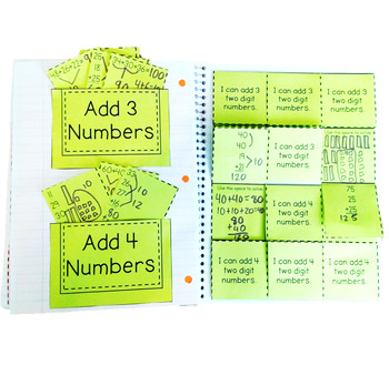 Add 3 and 4 Two-Digit Numbers: 2.NBT.B.6 Common Core Math 2nd Grade