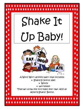 Daily 5 Word Work - Add An Adverb Shake-It