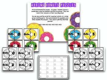Add And Subtract!  Donut Shop Addition And Subtraction!