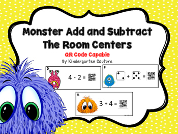 Add And Subtract The Room Monsters {QR Code Capable}