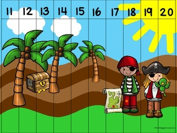 Add And Subtract The Room (to 8) Pirate Theme