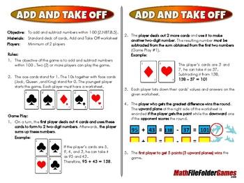 Add And Take Off - 2nd Grade Math Game [CCSS 2.NBT.B.5]