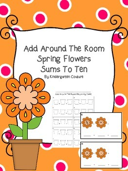 Add Around The Room -Spring Flowers Sums To Ten