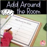 Add Around the Room Math Center for Kindergarten