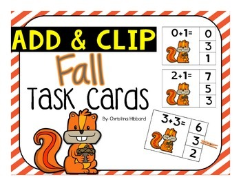 Add & Clip Task Cards (Fall)