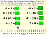 Add & Compare Integers!  Positive & Negative Numbers! SmartBoard Notebook