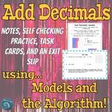Add Decimals: Models and Algorithm