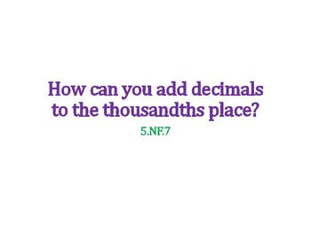 Add Decimals PowerPoint