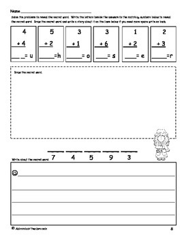 Add, Doodle and Write! Animals A-Z Math with an ELA Twist Sums within 10