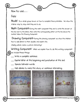 Add, Doodle and Write! Math Secret Message with ELA Twist: CVC words