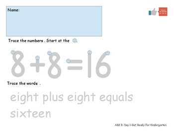 Add Eight Worksheet Pack