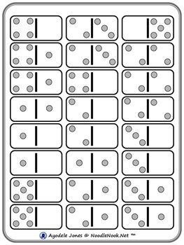 Add 'Em Up Dominos- An Adapted Activity for Math Facts from 1-5