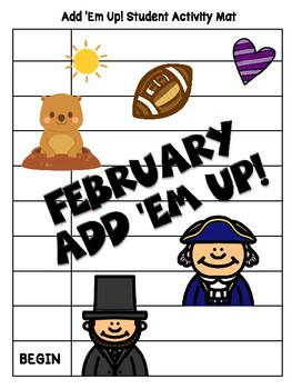 Add 'Em Up! Math Activity (February Edition)