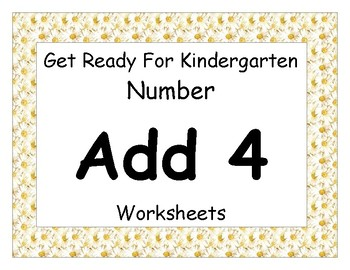 Add Four Worksheet Pack