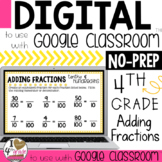Add Fractions Digital Lesson to use with Google Classroom CCSS 4.NF.5
