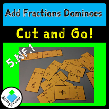 Add Fractions Dominoes