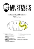 Add Fractions Game Snakes and Ladders Addition Year 6 Year