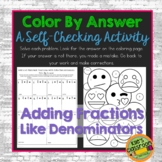 Add Fractions Like Denominators  Color By Answer Simplifyi