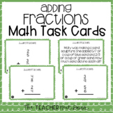5th Grade Adding Fractions Task Cards | Adding Fractions Center