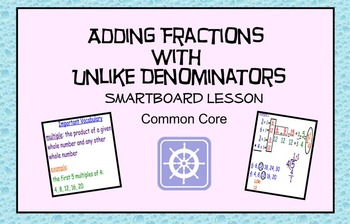 Add Fractions with Unlike Denominators