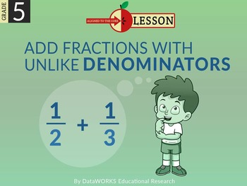Add Fractions with Unlike Denominators