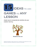Add Games and Activities to Any Lesson