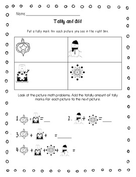 Add, Graph and Tally - Winter