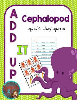Add IT up: Cephalopod, speech therapy, open ended game, math