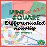 Add Integers Nine Square Craze