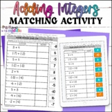 Add Integers with the Same Sign Digital Matching Activity