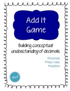 Add It Game! (adding decimals)