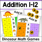 Dinosaur Addition Games for Sums 1-12 ~ Add It!