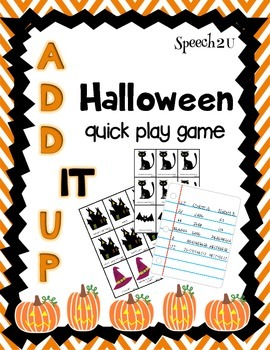 Add It UP: Open ended Halloween Game