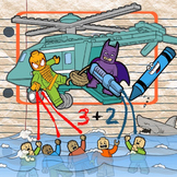 Superhero Addition Facts -- Composing Numbers 2 - 10!