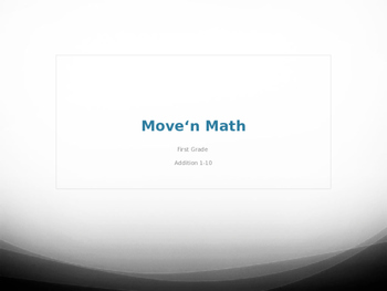 Move'n Math Add It Up - Addition 1-10