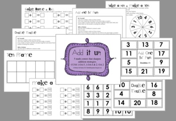 Add it up math games by the bubblegum tree teachers pay teachers add it up math games ccuart Choice Image