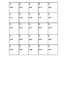 Add It Up - Money BINGO Game with 20 pre-written cards.