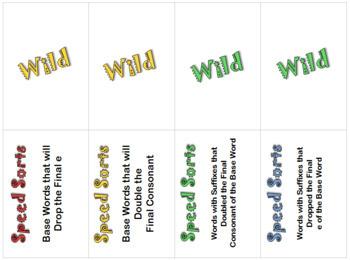 Add It or Drop It Game-Double Final Consonants & Drop Final e for Vowel Suffixes