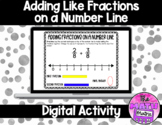 Add Like Fractions on a Number Line for Google™ Classroom