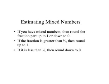 Add Mixed Numbers PowerPoint