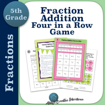 Adding Fractions Game Differentiated Partner Game