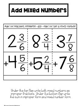 Add Mixed Numbers by Converting to Improper Fractions - 90 Minute Math Makeover