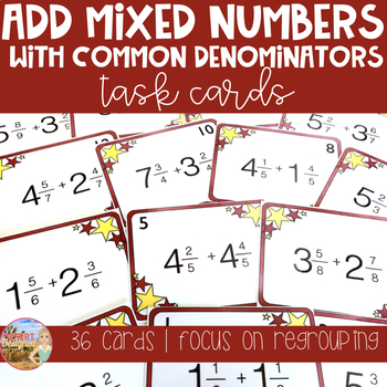 Add Mixed Numbers with Common Denominators & Regrouping