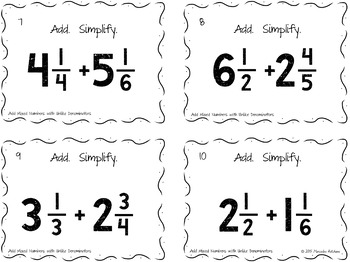 Add Mixed Numbers with Unlike Denominators Then Simplify