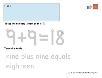 Add Nine Worksheets