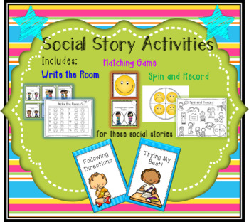 Add-On Activities/Games for Following Directions and Trying My Best Social